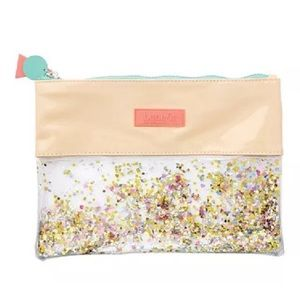 BRAND NEW! Benefits Confetti Zip Make Up Bag Pouch
